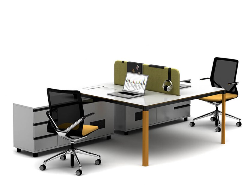 Multiple office workstation FOLLOW | Office workstation by Tuna Ofis
