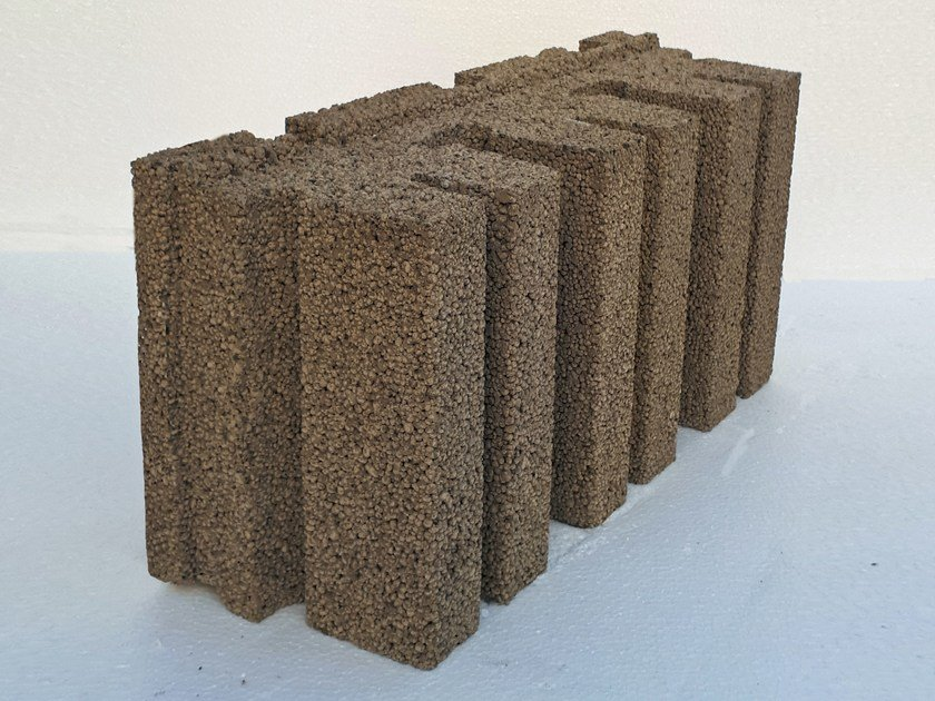 Sound-absorbing concrete block FONOLECA A DOGHE by Edil Leca Murature