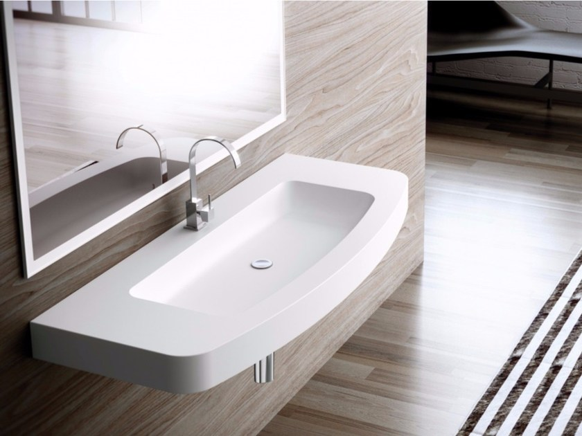 Single wall-mounted Silexpol® washbasin FONTANA ILCIC06 by Fiora