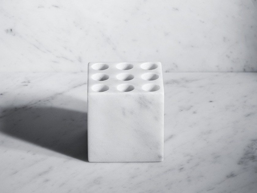 Countertop marble toothbrush holder FONTANE BIANCHE | Countertop toothbrush holder by SALVATORI