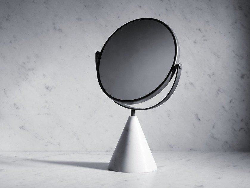 Countertop round mirror FONTANE BIANCHE | Mirror by SALVATORI