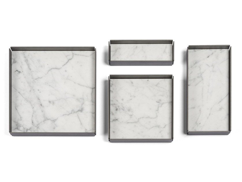 Modular stone trays FONTANE BIANCHE | Set of modular trays by SALVATORI