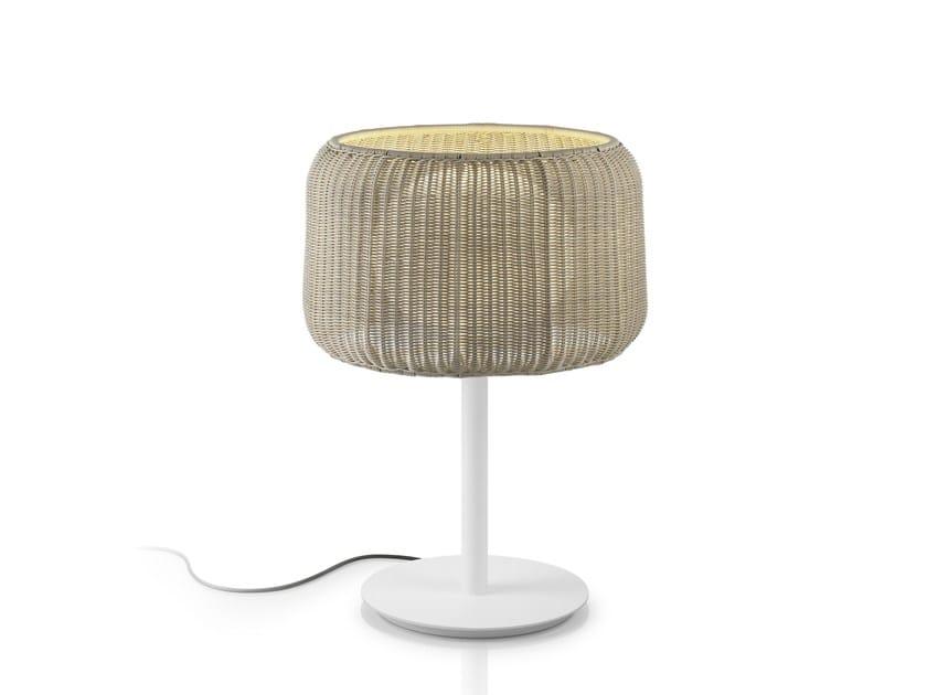 Lampada da tavolo in fibra sintetica FORA M by BOVER