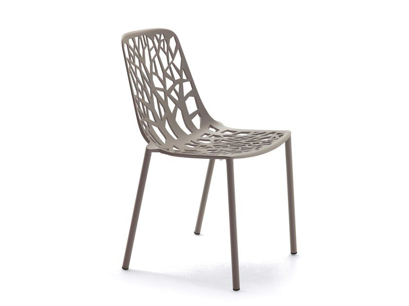 Stackable aluminium garden chair FOREST | Chair by FAST