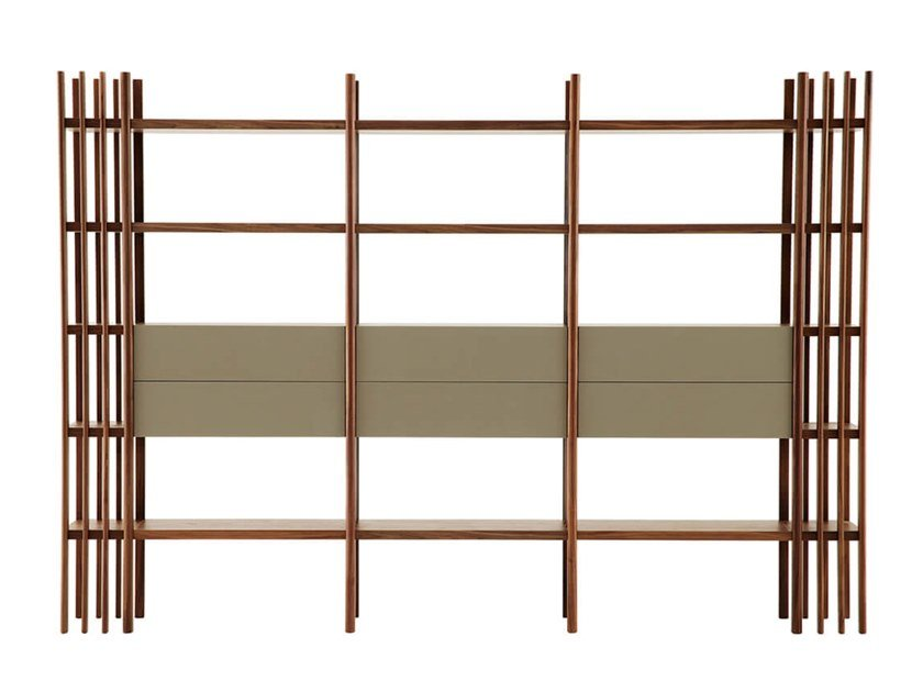 Open modular wooden shelving unit FOREST by HC28