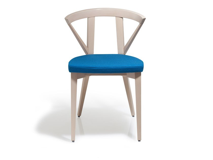 Beech chair with integrated cushion FOREST | Chair by Blifase
