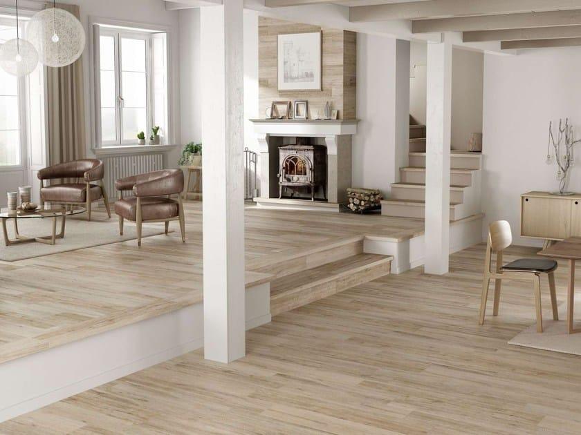 Pavimento rivestimento effetto legno per interni ed esterni grove
