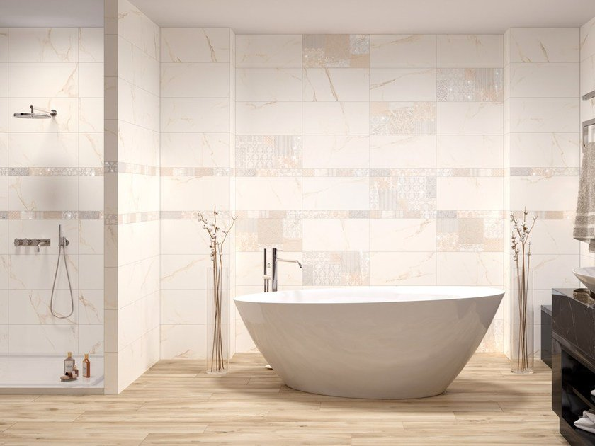 Porcelain stoneware wall/floor tiles with marble effect FORI ROMANI by Ceramica Rondine
