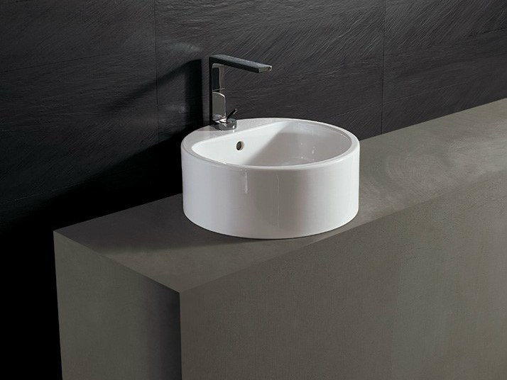 Round ceramic washbasin FORM 46 ROUND | Washbasin by Alice Ceramica