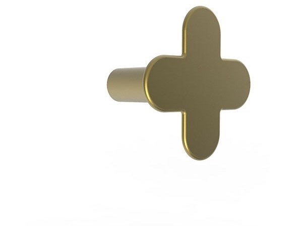 Wall-mounted brass coat rack MYAPP FORM + 60.003 by BRL METAL DESIGN