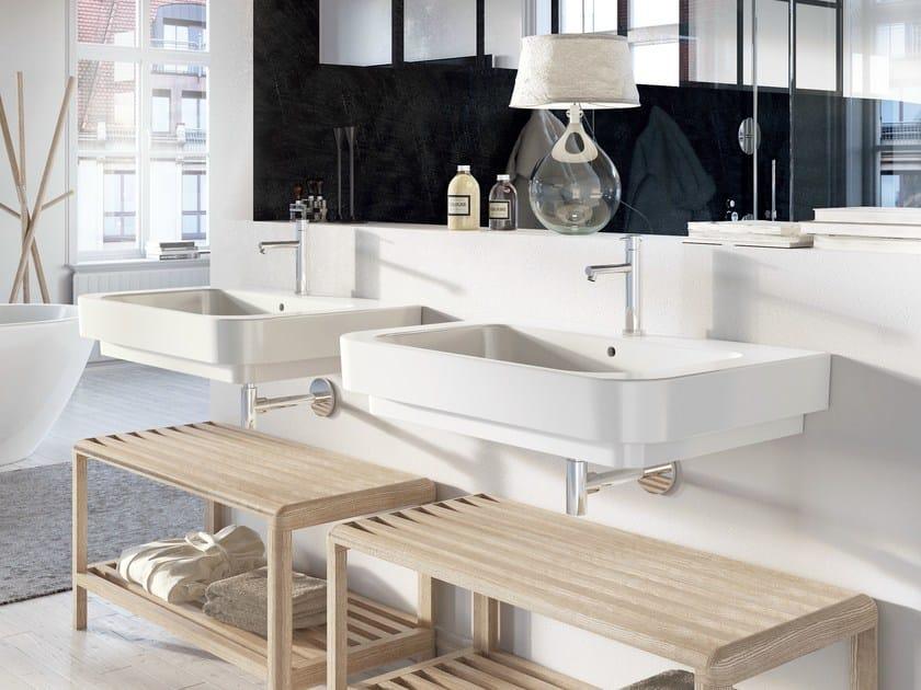 Single ceramic washbasin FORM 80 | Washbasin by Alice Ceramica