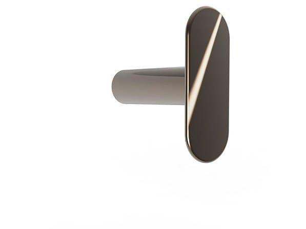 Wall-mounted brass coat rack MYAPP FORM I 60.011 by BRL METAL DESIGN
