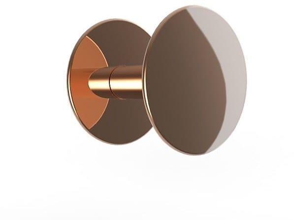 Wall-mounted brass coat rack MYAPP FORM O 60.006 by BRL METAL DESIGN