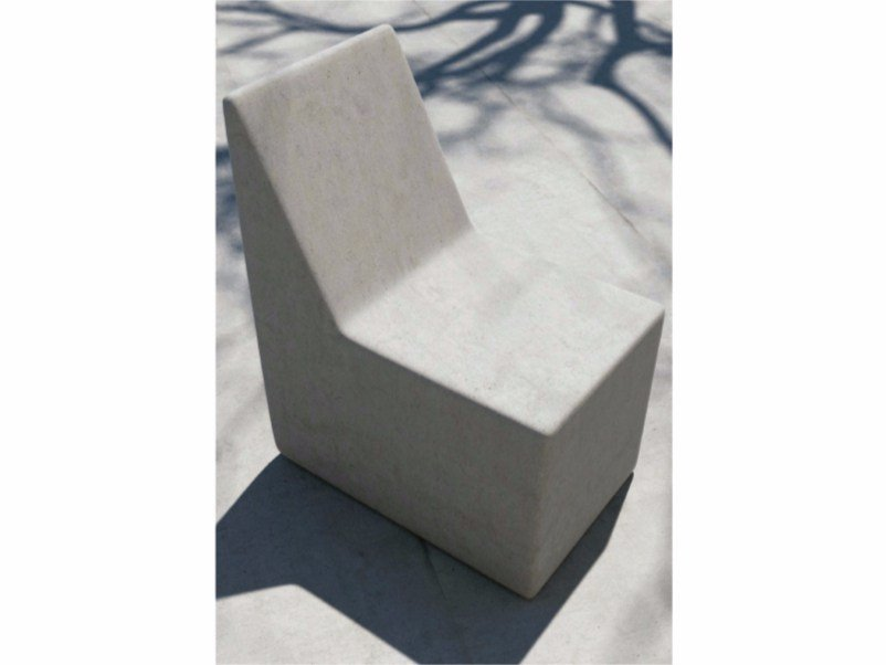 Concrete outdoor chair FORM | Outdoor chair by SIT
