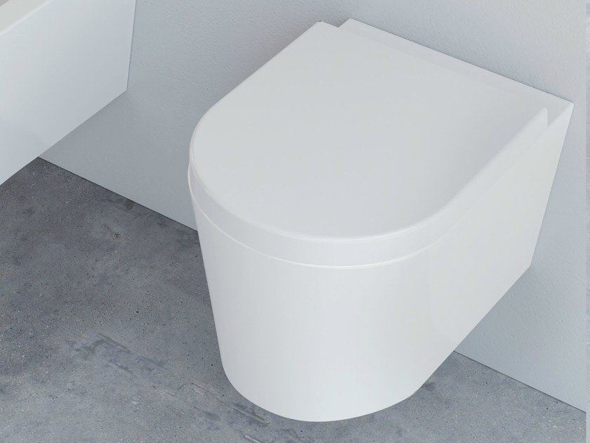 Wall-hung ceramic toilet FORM SQUARE | Wall-hung toilet by Alice Ceramica