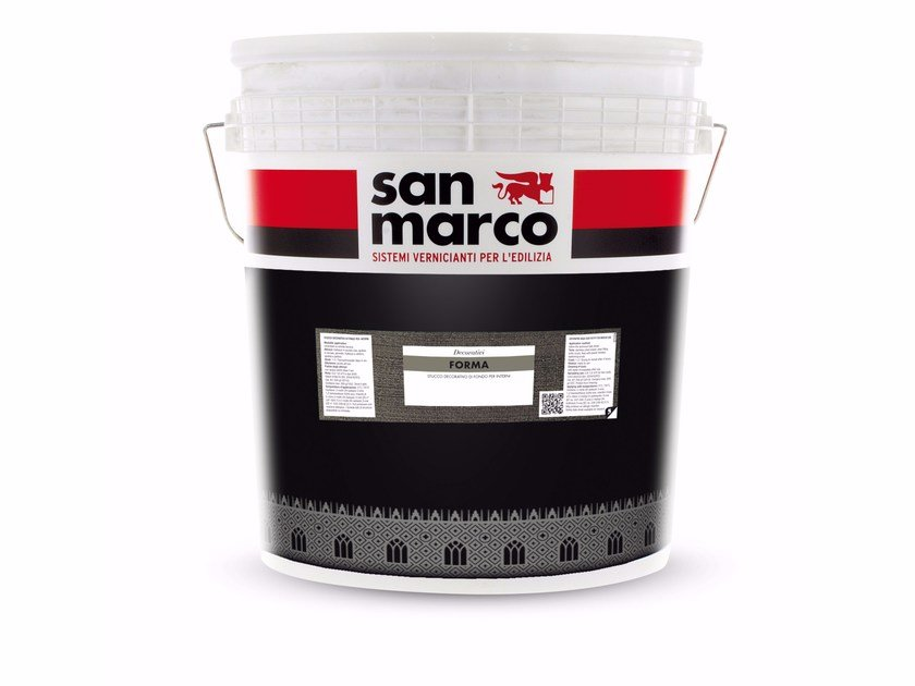 Acrylic water-based decorative painting finish with raised effect FORMA by San Marco
