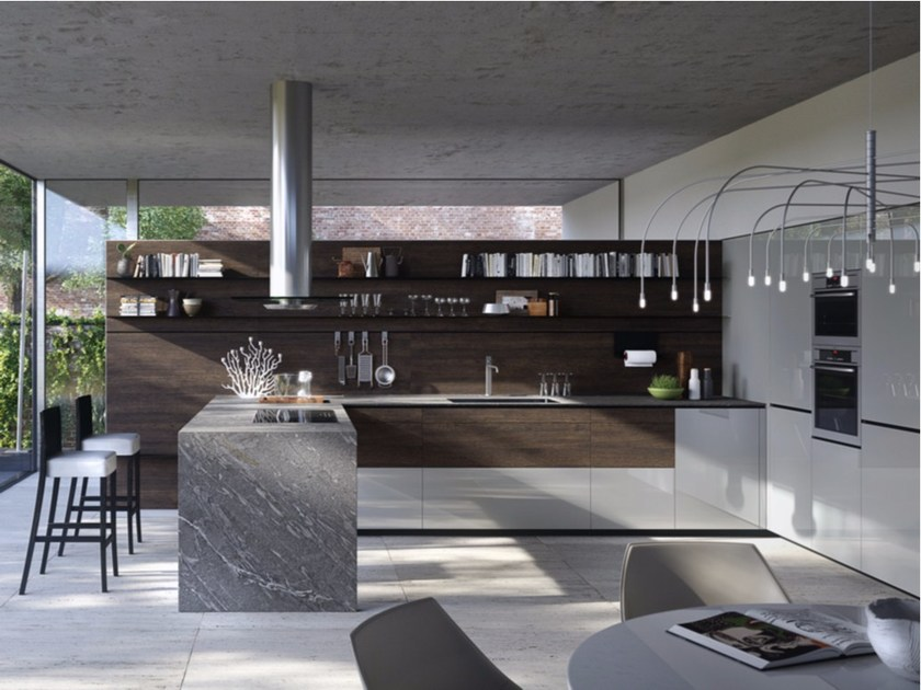 Fitted kitchen FORMA MENTIS - WOOD by VALCUCINE