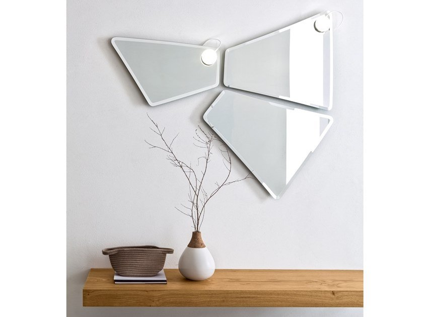 Wall-mounted mirror with integrated lighting FORMA | Mirror with integrated lighting by ARBLU