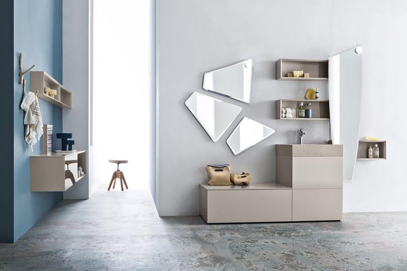 Specchio con illuminazione integrata da parete FORMA