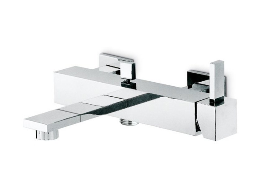 Wall-mounted single handle bathtub mixer with diverter FORMA | Wall-mounted bathtub mixer by newform