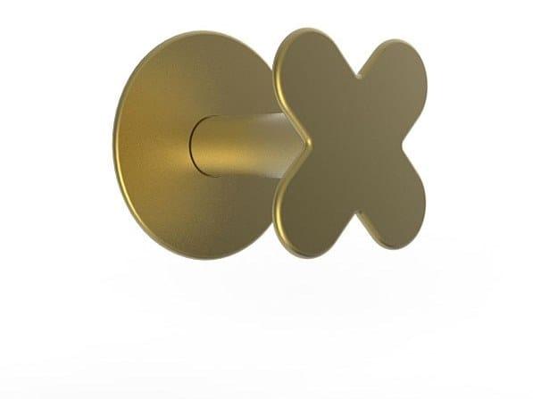 Wall-mounted brass coat rack MYAPP FORM x 60.002 by BRL METAL DESIGN