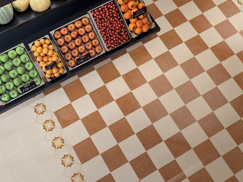 Porcelain stoneware wall/floor tiles with stone effect FORME ROSSO by Marca Corona