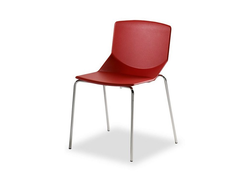 Stackable structural polyurethane chair FORMULA TECH 4L by Inday