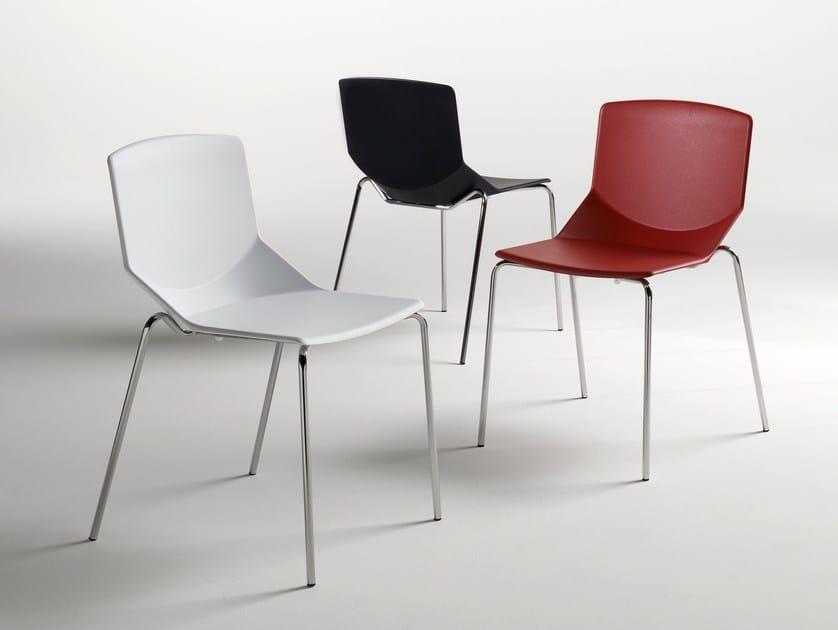 Stackable polyurethane chair FORMULA TECH 4L by arrmet
