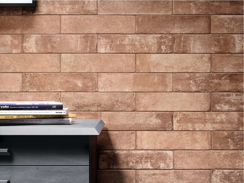 Glazed stoneware wall tiles with brick effect FORNACE by Ragno