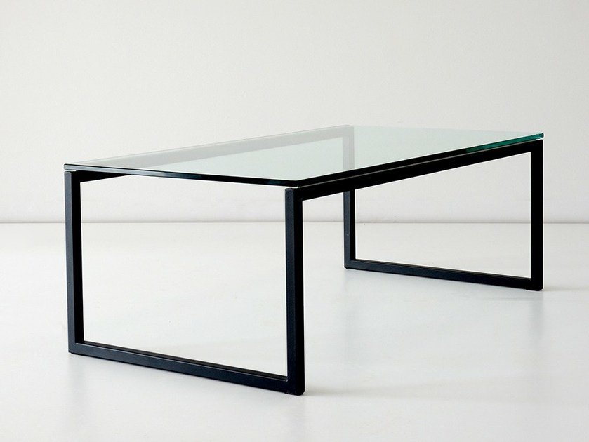 Rectangular glass coffee table for living room FORT YORK by hollis+morris