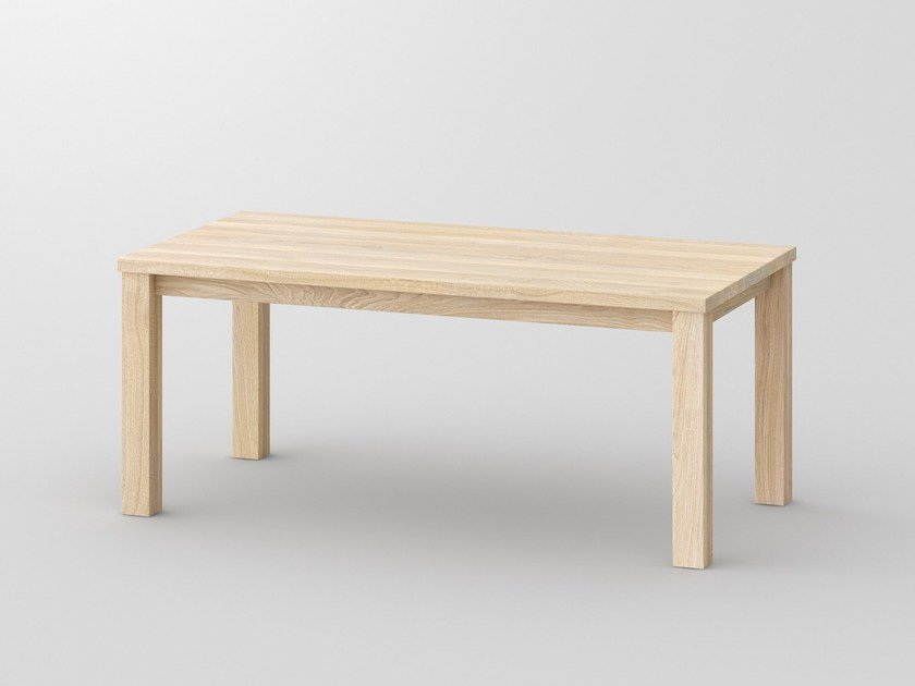 Rectangular solid wood table FORTE by Vitamin Design