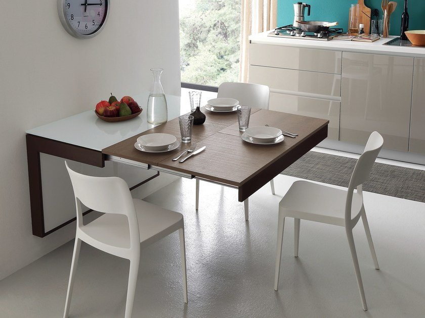 wall mounted extending kitchen table fortune by ideas group rh archiproducts com extending kitchen tables for sale extending kitchen table and chair sets
