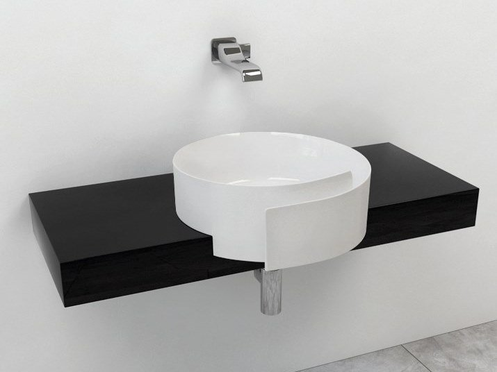 Piano lavabo singolo in Pietraluce® FORTY6 | Piano lavabo in Pietraluce® by CERAMICA FLAMINIA