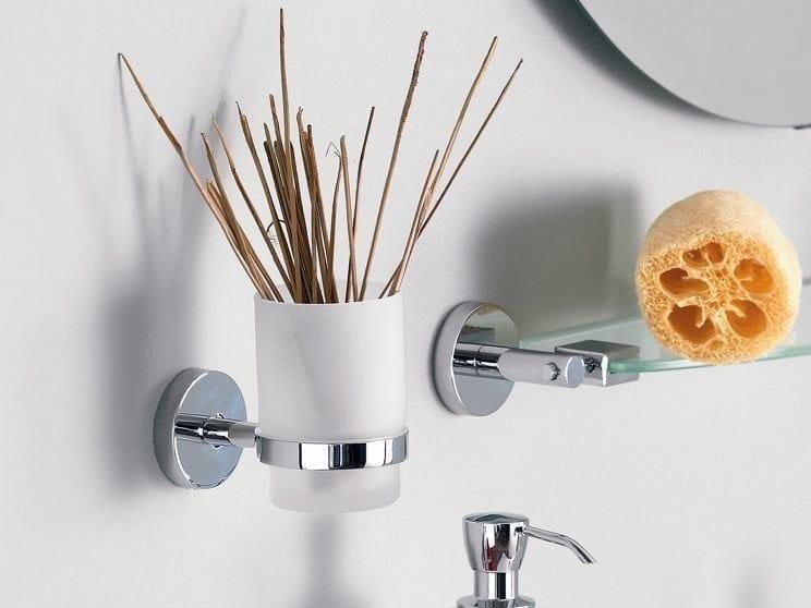 Satin glass toothbrush holder FORUM | Toothbrush holder by INDA®