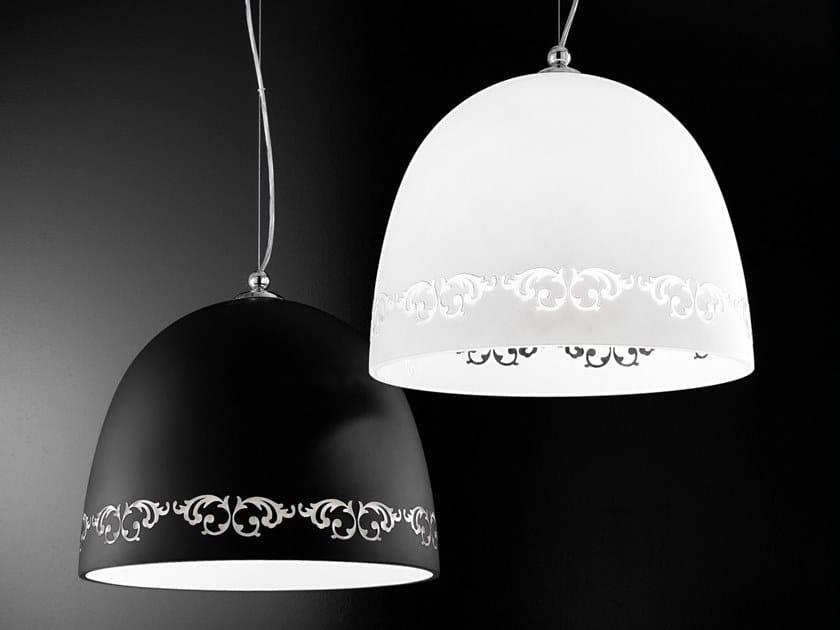 Lampada a sospensione a luce diretta in vetro satinato FOSCA | Lampada a sospensione by IDL EXPORT