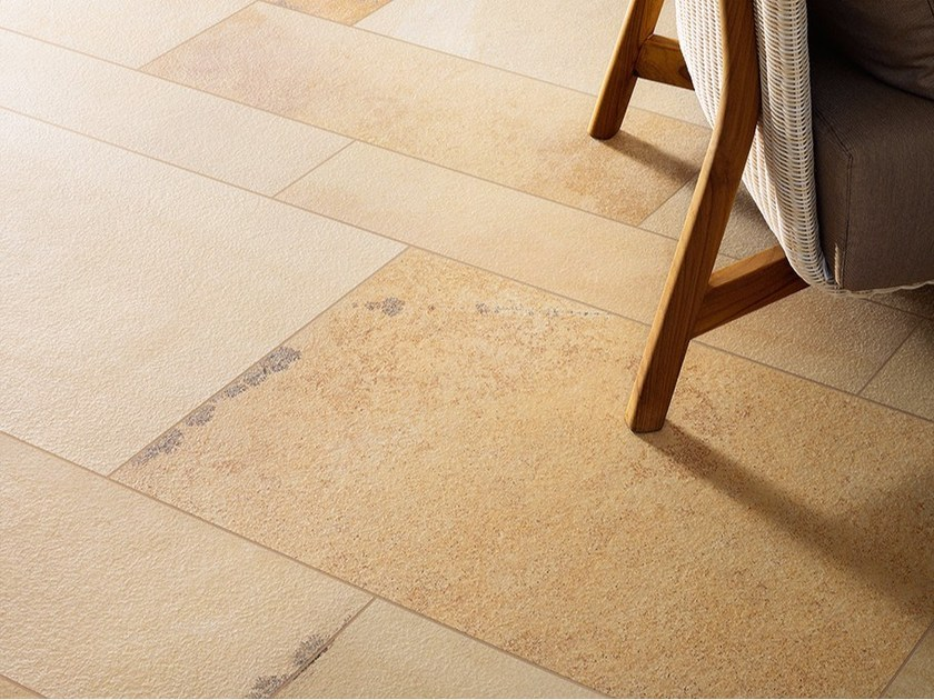 Ceramic flooring with stone effect FOSSILIA by Ceramiche Coem