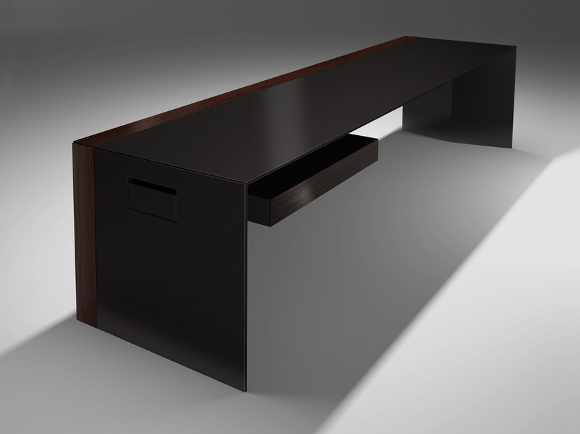Rectangular powder coated steel executive desk with drawers FOSTER by JOSE MARTINEZ MEDINA