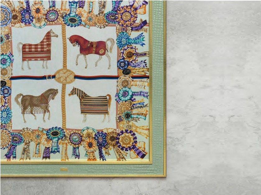 Fabric wall painting FOUR HORSES | Wall painting by Formitalia