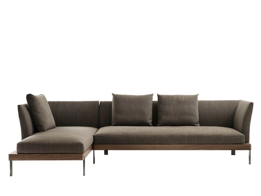 Sectional fabric sofa with chaise longue FOUR SEASONS | Sofa with chaise longue by HC28