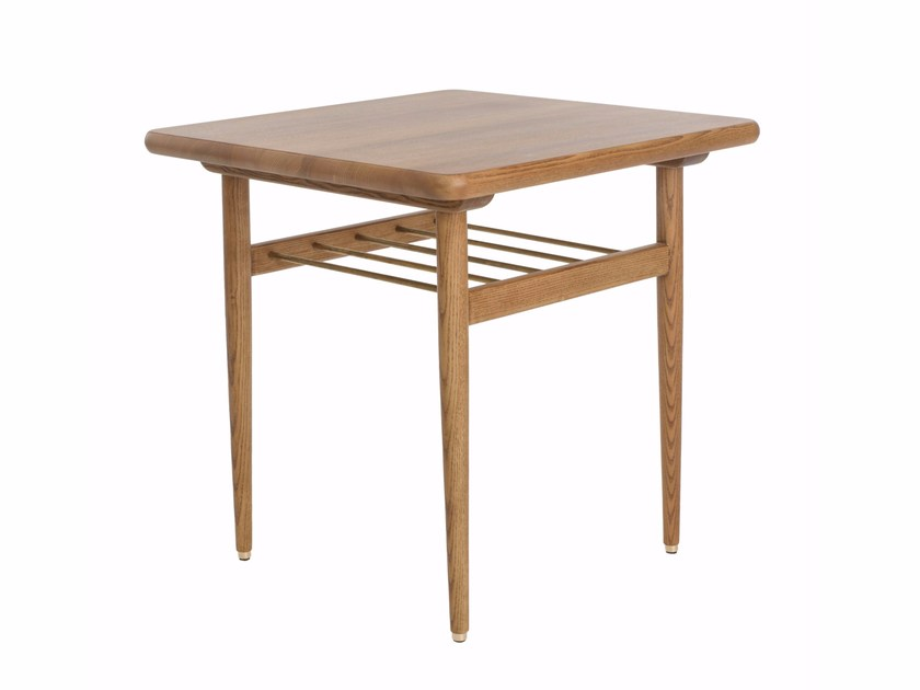 Square wooden coffee table with integrated magazine rack FOX | Square coffee table by 366 Concept s.c.