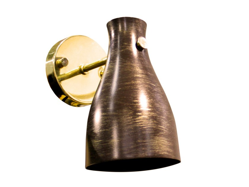 Aluminium wall lamp with fixed arm FOXGLOVE by Creativemary