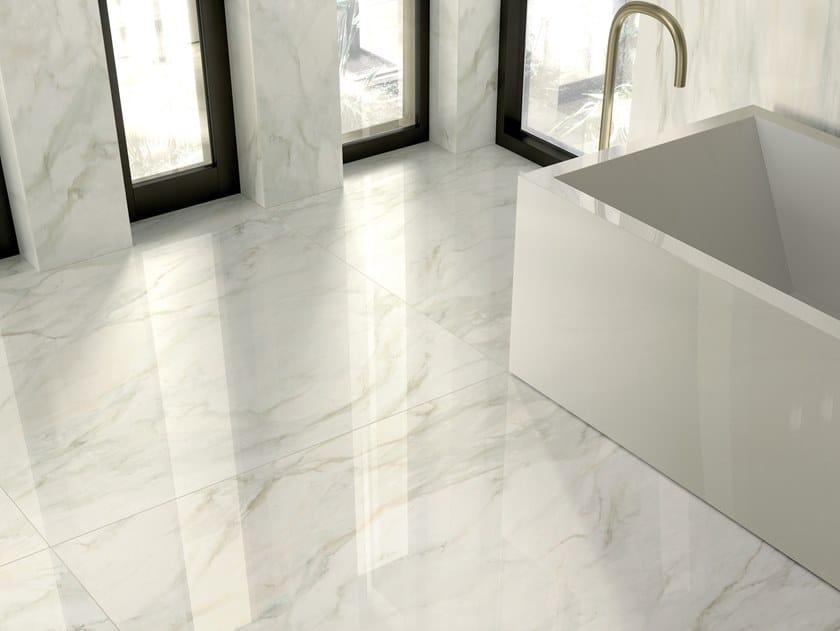 Pavimento/rivestimento in gres porcellanato effetto marmo FOYER ROYAL DELICATE by Marca Corona