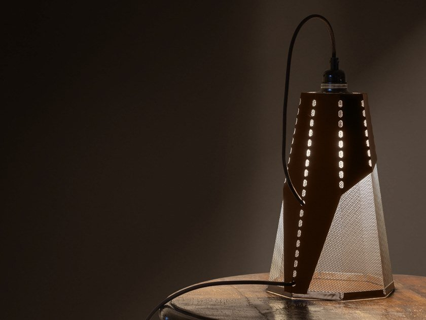 Corten™ table lamp FRAC by TrackDesign