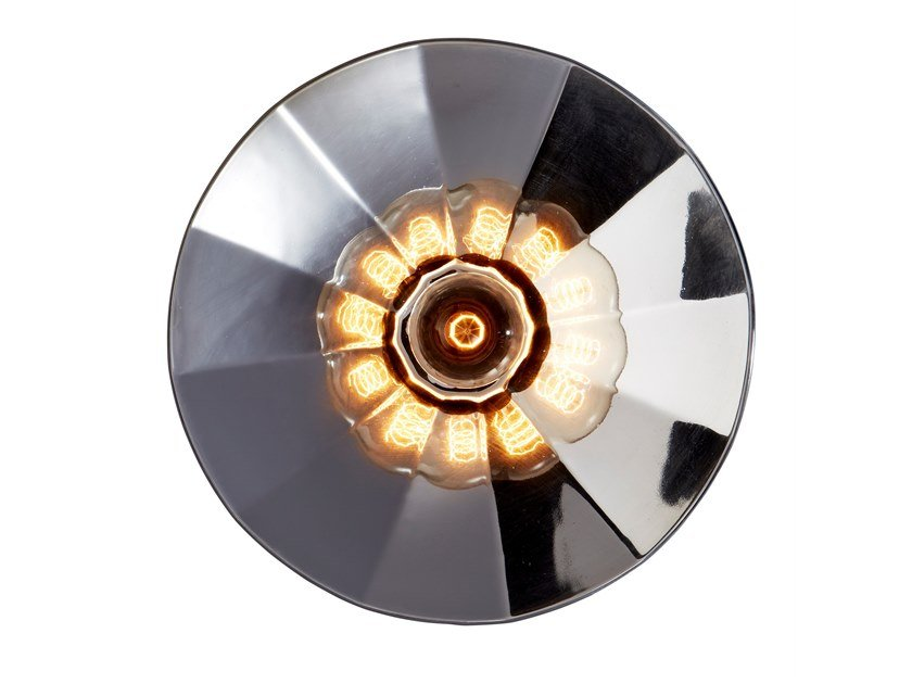 Handmade Thermoformed glass wall light FRACTALE by RADAR INTERIOR