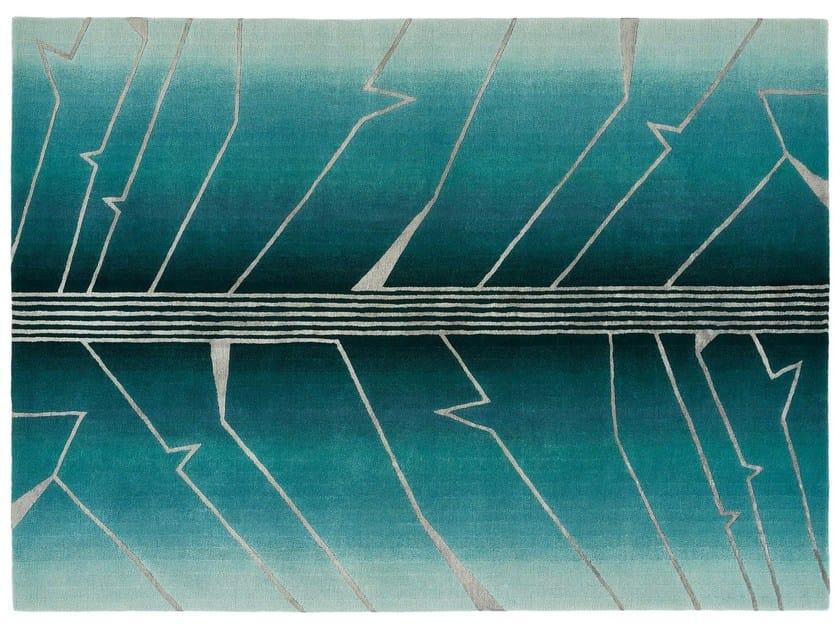 Handmade rectangular wool rug FRACTURE by Deirdre Dyson