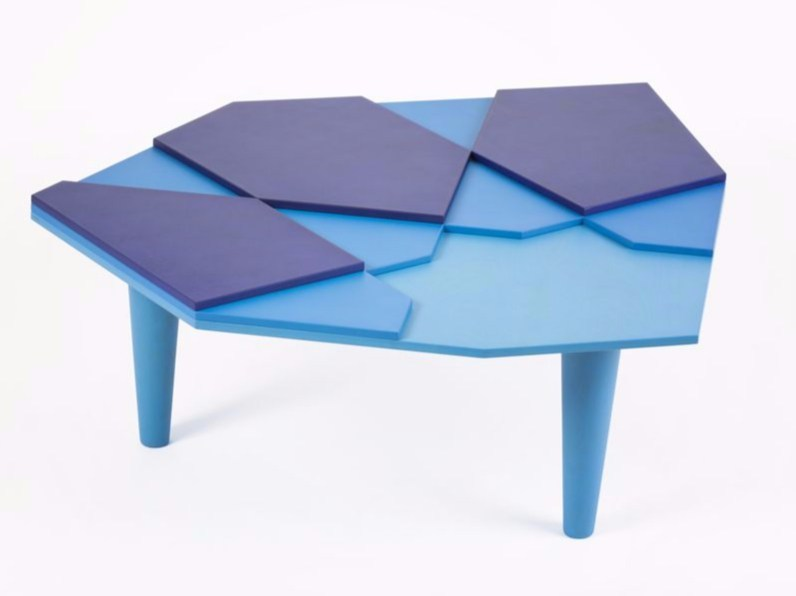 Lacquered multi-layer wood coffee table FRAGMENT by MALHERBE EDITION