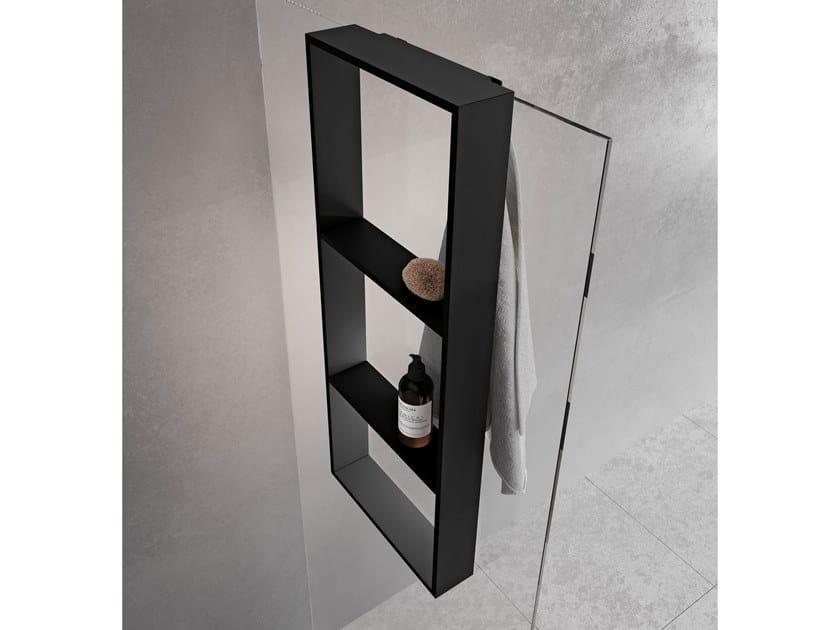 Porta asciugamani / mensola bagno in metallo FRAME | Porta asciugamani a gancio by NOVELLINI
