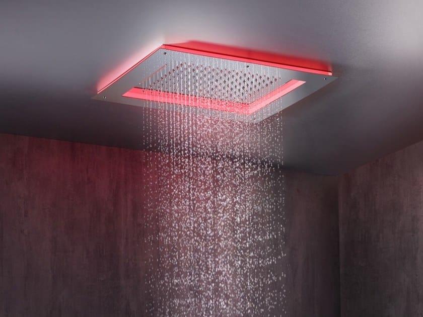 LED 3-spray stainless steel overhead shower FRAME by Bossini