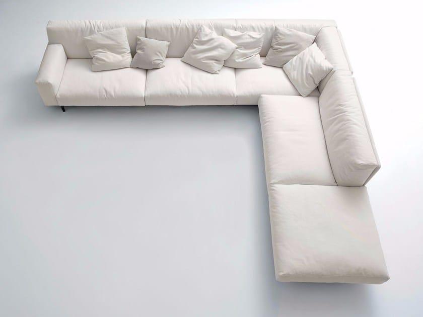 Corner upholstered fabric sofa FRAME | Corner sofa by arflex