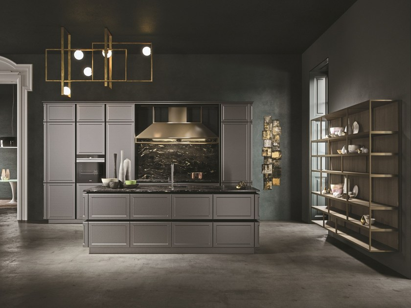 Kitchen with island without handles FRAME ELEGANCE by Snaidero